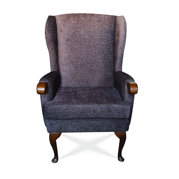 Made in Lancashire by our skilled craftsmen Fully upholstered high back wing chair with knuckles to assist getting in and out of seat 3 seat heights and 2 widths available