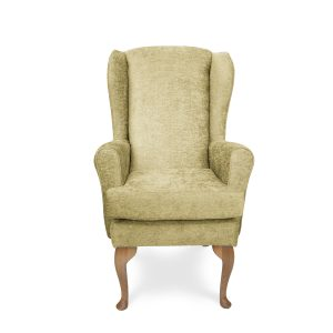 The lounge chair has a reversible seat cushion can be easily removed for washing. Our Adeline high back chair blends with modern and classic themes and aligns the body better for longer seated hours